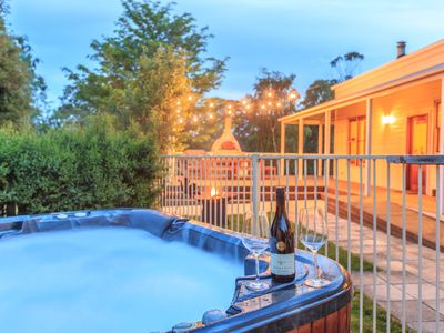 Outdoor spa perfect for stargazing and enjoying the peaceful surroundings