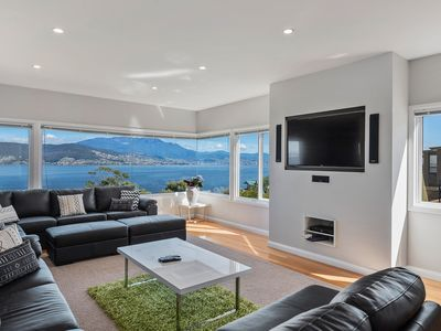 Enjoy Netflix, Foxtel with a view over the Derwent