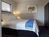 Queen size bed with quality bed linen