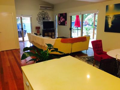 Very Spacious Living & Dining opening onto Manicured Garden