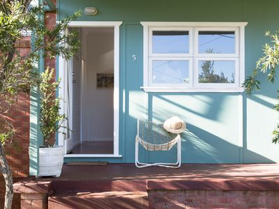 Entrance to our 1960s beach house