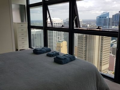 Great view from the master bedroom