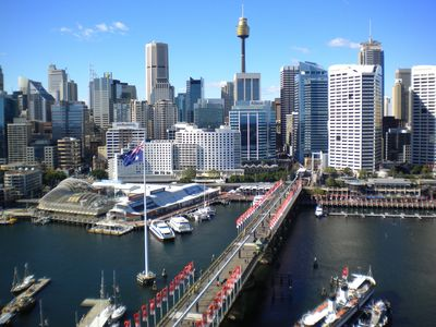 Darling Harbour - View from Level 17 Roof top Terrace