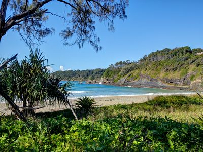 Korora Bay, just metres away from the Beach House