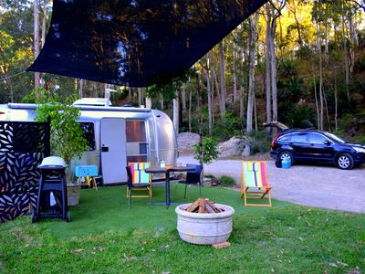 Glamping in a natural Eucalypt forest