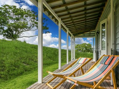 Relax on wrap-around verandahs