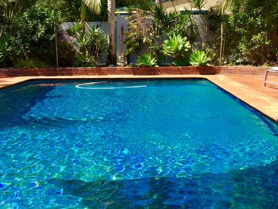 Large tiled pool