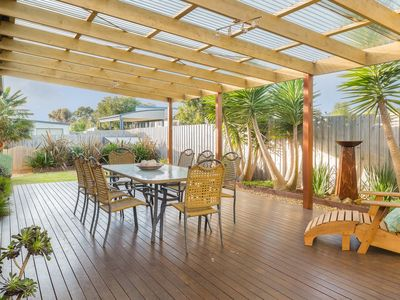 Fabulous, sheltered outdoor living space...