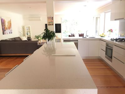 Light filled spacious open planned living/dining/kitchen
