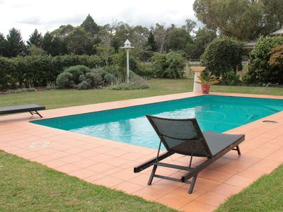 have a swim in our solar heated pool