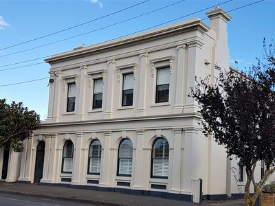 The Bank Koroit. Your beautiful apartment awaits upstairs.