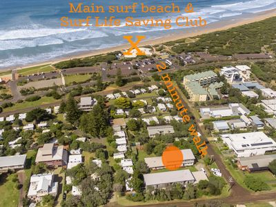 Alice's Palace is 2 minutes' walk to surf beach & Surf Life Saving Club