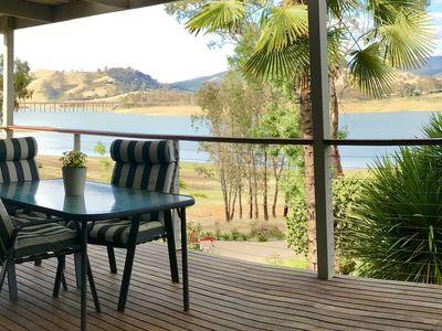 Large verandah overlooking the lake