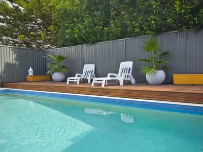 Enjoy the large, solar heated pool with plenty of space for swimming & relaxing.
