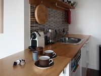 kitchenette with bench extended