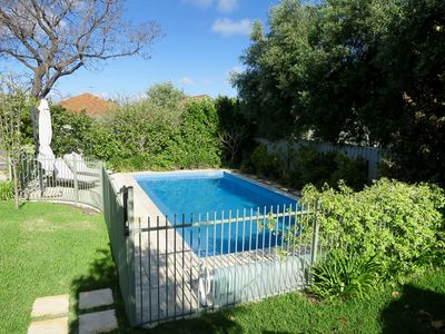 8 metres x 4 metres solar heated swimming pool