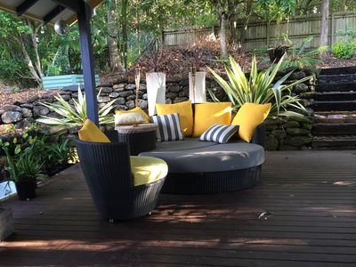 Day bed on back deck