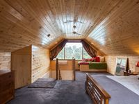 The Pool House spacious bedroom also has a trundle bed.