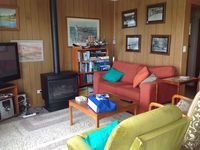 Cosy living room with gas log heater