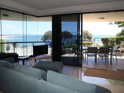 Uninterrupted ocean views from the open plan living area