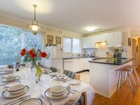 Ready for a feast. Kookaburra Cottage kitchen/dining area.
