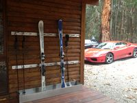 SOMEWHERE TO KEEP THE SKIS... SORRY FERRARI NOT INCLUDED