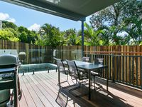 Rear Pool Deck and BBQ area off the Open Plan Living Area