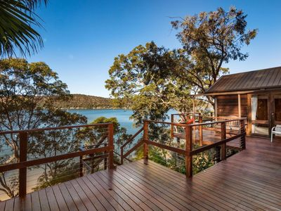 Huge deck with spectacular views of the river