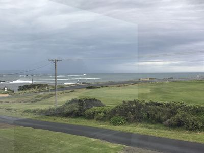 View from the front of the house - golf course and beach right there