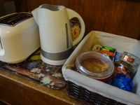 Supplied continental breakfast and tea and toaster facilities