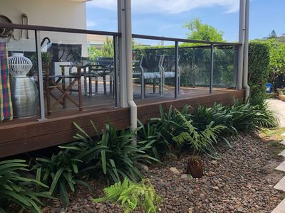 Lovely large deck with BBQ & Hot tub