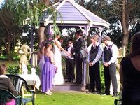 Wedding in the beautiful garden
