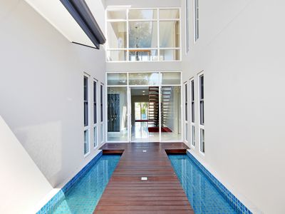 Gated front entry at The Hunter Valley Getaway