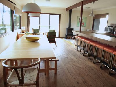 Massive open plan kitchen living and dining area