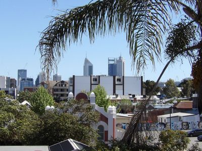 view from balcony of Perth CBD