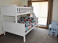 3rd bedroom with bunk bed (double mattress on bottom bunk)