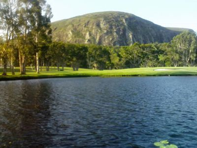 Mt Coolum seen from golf course