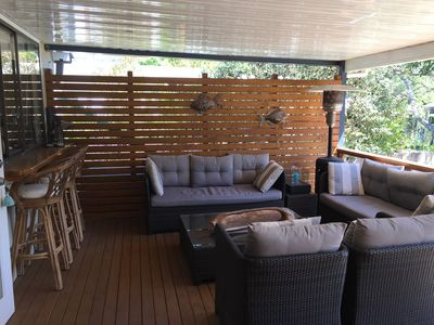 Large Deck for eating and relaxing