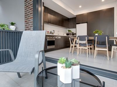 Kitchen, Dining and Balcony