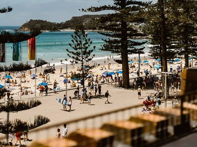 manly view from rooftop in corso