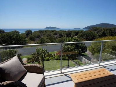 Peaceful, private and luxurious, the Lovenest has two decks with  sea views