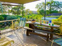 relax with waterway views and cooling breezes