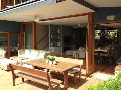 Entertaining Deck on main level of house, adjoining kitchen and BBQ