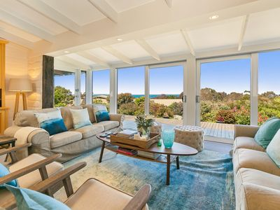 The Outlook - Open Plan Living Area overlooking Panoramic Westernport Bay Views