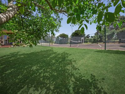 Expansive lawns, and 1/2 size tennis court