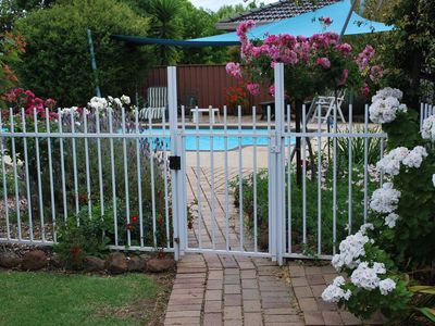 Entrance into swimming pool