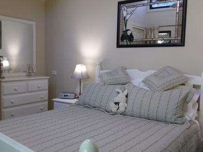 French style bedroom with Robes and quality linen