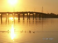 Sunset San Remo bridge