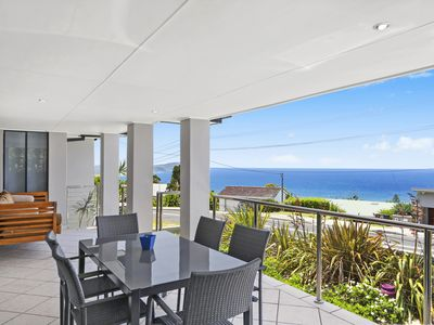 Large entertaining balcony with views