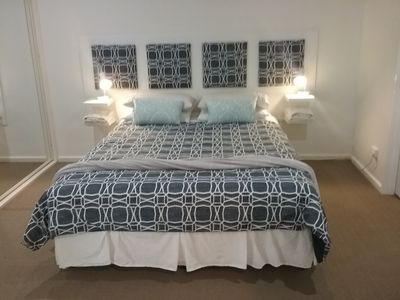 Mastern Queen bedroom with fan and electric blanket refurbished